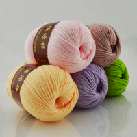 250g 5 Balls Milk Cotton Wool Yarn Worsted Eco Friendly Crochet Soft Baby Cashmere Yarn For
