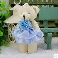 Venta! 72 unids 12 CM perla mini juguetes de peluche teddy bear ramo del juguete / llavero / bolsa teléfono colgante / decoración de cumpleaños