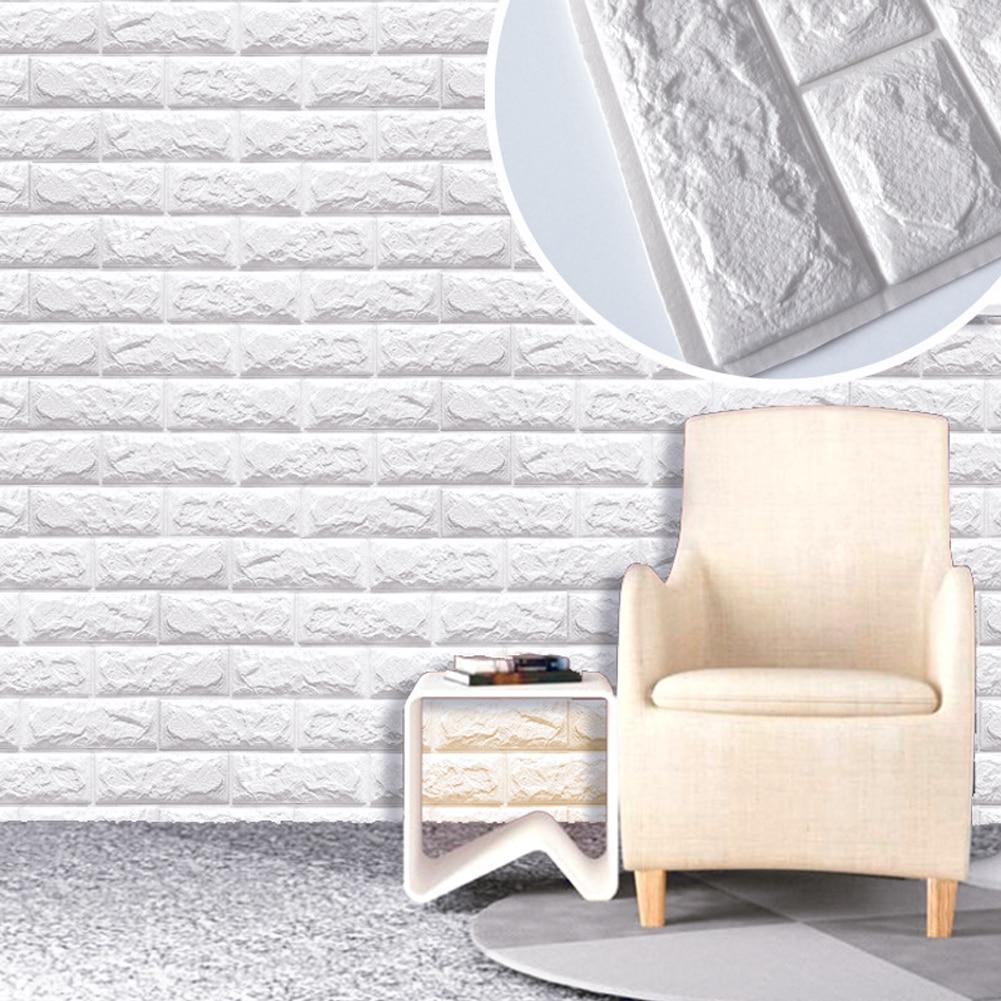 60 X 60cm PE Foam Natural Wall Stickers Patterns 3D DIY Wall Decor Brick For Living Room Kids Bedroom Decorative Sticker Decor 30x60cm pe foam red 3d wall paper safty home decor wallpaper diy wallpaper brick living room kids bedroom decorative sticker