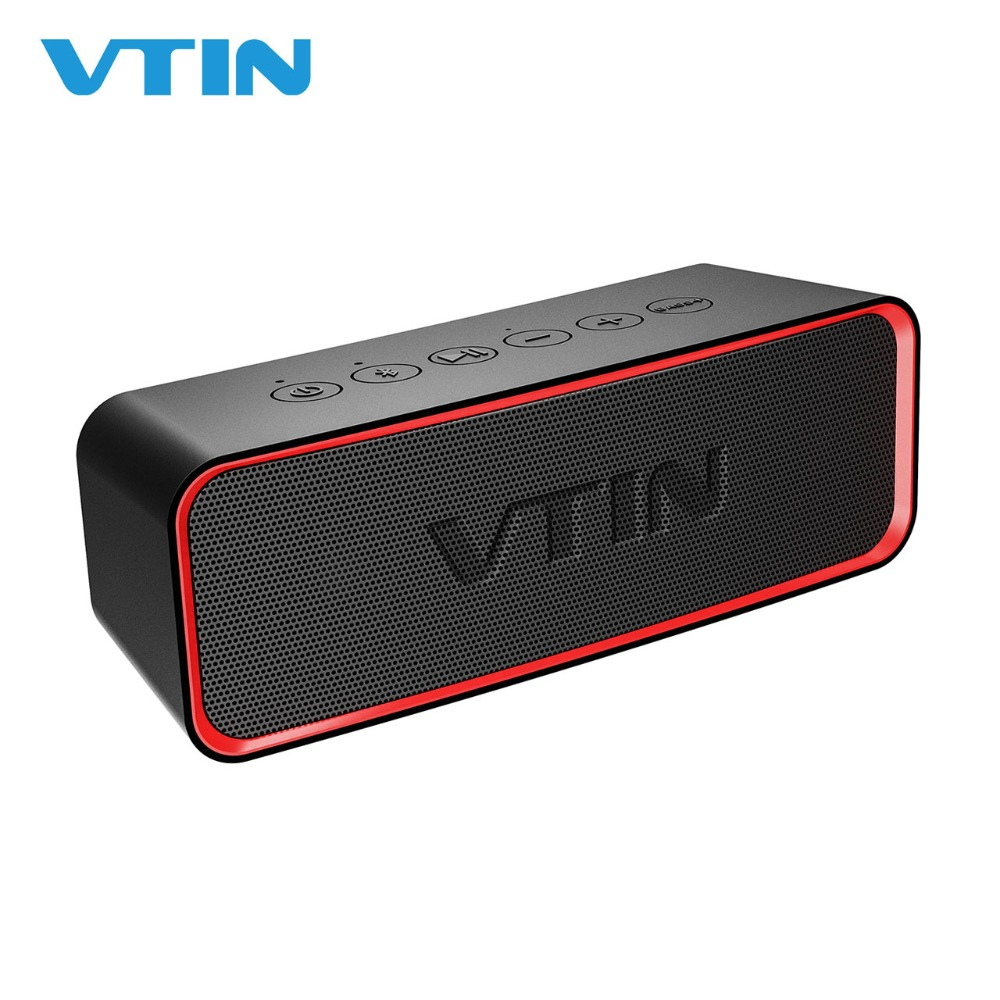 цена на VTIN Wireless Bluetooth Speakers IPX6 Waterproof Outdoor Speakers Portable Speaker Stereo Sound Loud Speaker With Mic For iPhone