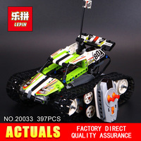 New Lepin 20033 397pcs Technic Series Remote Control Caterpillar Vehicles Building Blocks Bricks Educational Toys With
