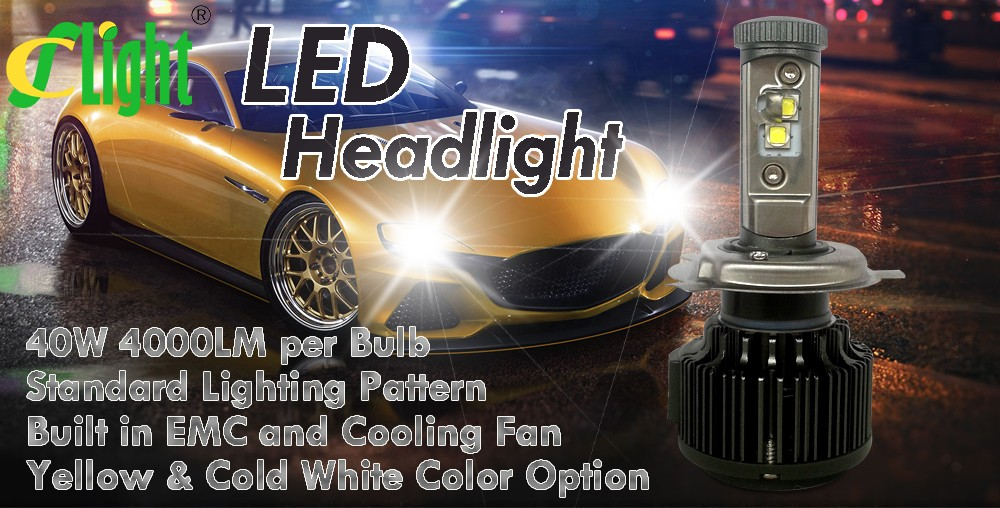 Newest H4 HB2 9003 Led CREE Hi Lo H4-3 High Power 40W 4000lm 3000K 6000K Strong Bright Car Headlight Fog Light Conversion kit (15)