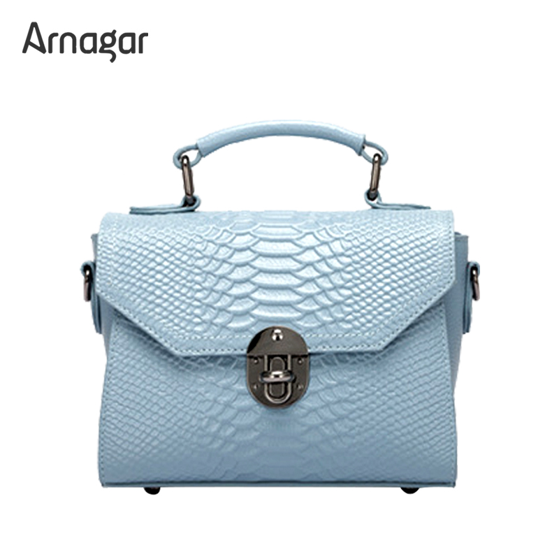 Arnagar genuine leather handbags women fashion alligator real leather tote women