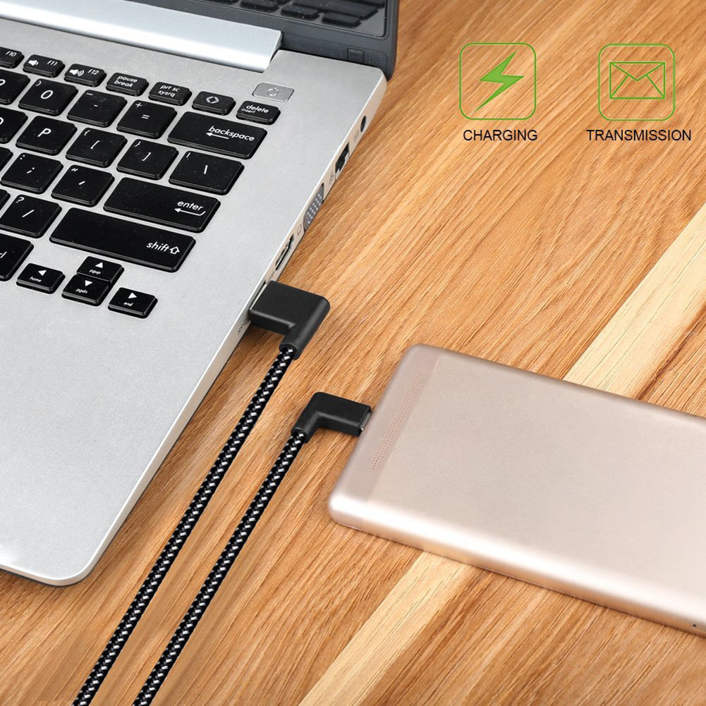 FD03   Connect The Micro Usb Cable To Charge 90 -degree To The Right Angle Of The Black Nylon Braid Synchronization Data SFD03   Connect The Micro Usb Cable To Charge 90 -degree To The Right Angle Of The Black Nylon Braid Synchronization Data S