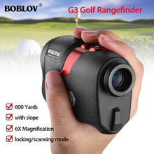 BOBLOV Telescope Rangefinder 6X Distance Meter 600M Hunting Range Finder Golf with Free Bags