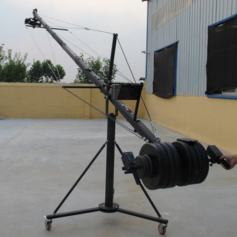 Professional Jimmy Jib Video Octagonal Camera Crane 8m With Pan Tilt Motorized Head benro s2 video head pan and tilt head for dslr video camera