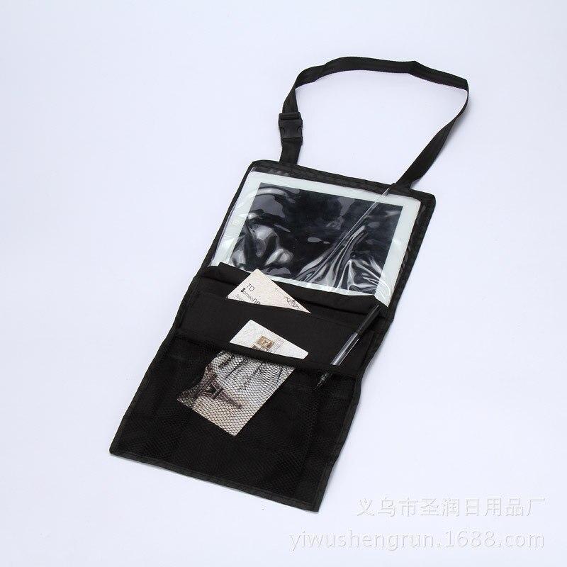black polyester + pvc fiber waterproof Children Travel ipad hanging bag Stowing Tidying car seat covers
