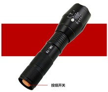 CREE XM-L T6 Led Flashlight 6000Lumens Led Torch Zoomable Waterproof Tactical Flashlight for 1×18650 Camping Hiking freeshipping