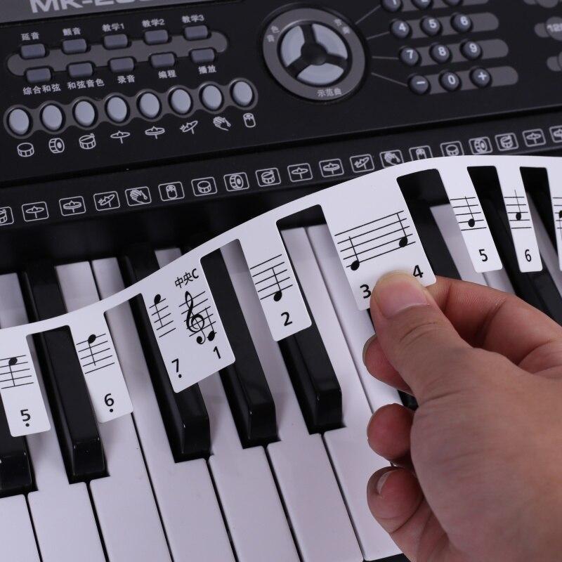 Transparent Piano Sticker 88 Key Piano Keyboard Sticker Electronic Keyboard 88 Key Piano Stave Note Sticker For Piano Keys