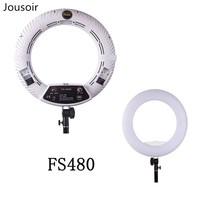 Yidoblo белая FS 480II Светодиодная лампа для макияжа кольцевая лампа для фотографического освещения CD50