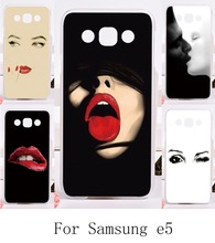2016 Top Selling Cellphone Bags Cover For Samsung Galaxy E5 E500 SM-E500F E500H Cases Red Sex Mouth Hard and Silicon Material