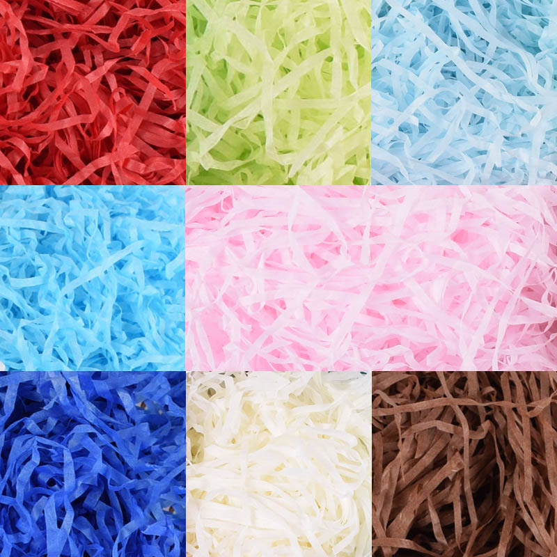 40g Per Bag DIY Paper Raffia Shredded Paper Confetti Gift Box Filling Material Wedding Marriage Birthday Decoration Colourful