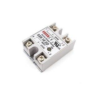 Твердотельное реле 12 В 24 В SSR-10DD SSR-25DD SSR-40DD 10A 25A 40A 3-32 В постоянного тока в 5-60 В постоянного тока SSR 10DD 25DD 40DD Rele источник питания