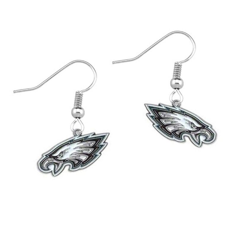 Philadelphia Eagles sports alloy enamel earrings