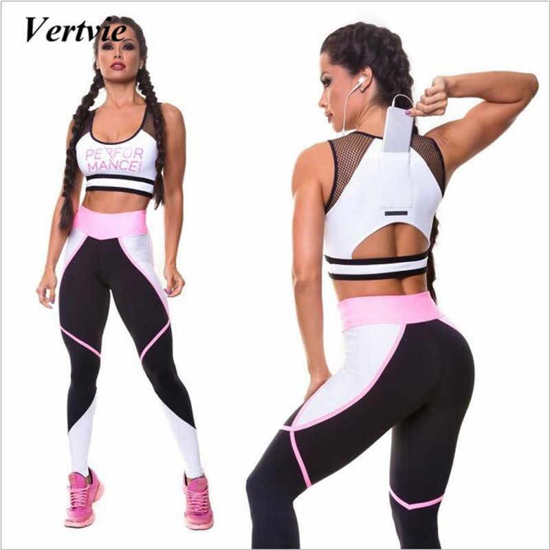 a66f08ef38b6 Для женщин спортивный костюм принт сетки спортивный костюм для фитнеса топ  с телефона карман тренажерный зал