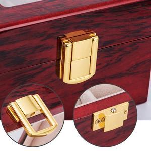 Image 4 - шкатулка для часов Роскошная деревянная коробка для часов, держатель для часов, коробка для мужских часов, стеклянный верх, ювелирный органайзер, коробка 2, 3, 5, 12 сеток, органайзер для часов, новинка, D40