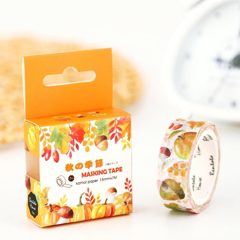 Autumn Years Washi Tape Diy Decorative Scrapbooking Masking Tape Adhesive Tape Set Label Sticker