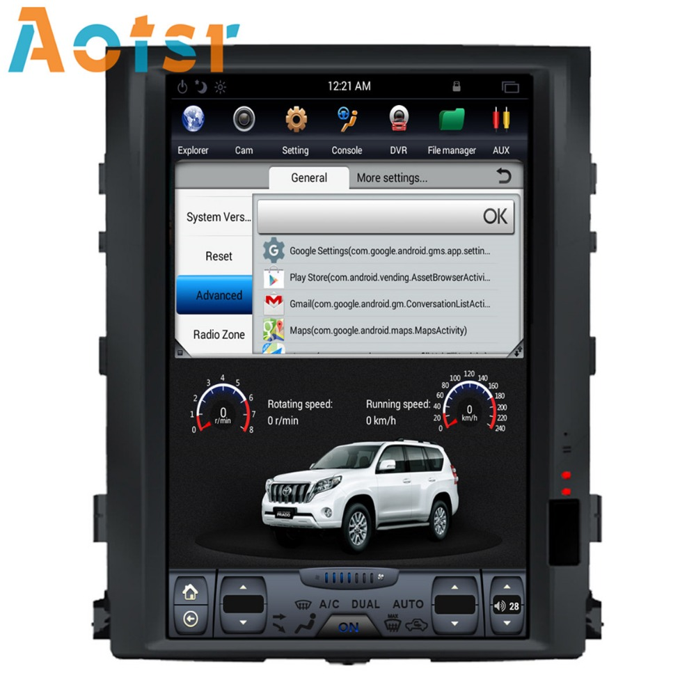 """Excellent 16"""" Tesla style Android 7.1 Car GPS Navigation Multimedia Player for TOYOTA LAND CRUISER LC200 2008-2015 Radio autostereo no dvd 2"""