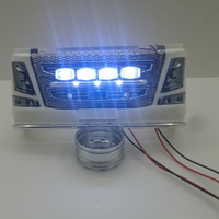 1/14 rc model tractor trailer upgrade part front led lights for 1:14 scale tamiya volvo 56360 actros scania R620 56323 toy truck