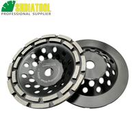 SHDIATOOL 2pcs 7 Inch Diamond Double Row Grinding Cup Wheel 180MM Grinding Disc Disk Arbor 22.23mm Concrete Masonry Granite|marble grinding|marbles granitesmarble discs -
