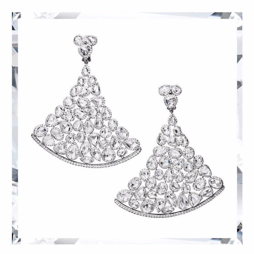 top new cubic zircon brazil style women earring unique design fashion jewelry party show brincos