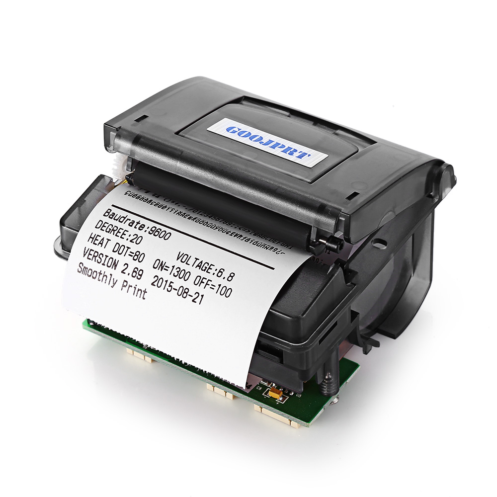 GOOJPRT QR203 58mm Mini Embedded Micro Receipt Barcode Thermal Printer RS232 / TTL USB Panel Compatible With EML203