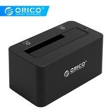 ORICO HDD чехол SATA к USB 3,0 док-станция для жесткого диска 5 Гбит/с супер скорость для 2,5 »/3,5″ SSD HDD с адаптером питания 12 В