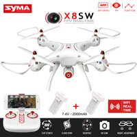 X8HW Upgrade SYMA RC Helicopter X8SW With FPV Wifi Camera 2 4G 6 Axis APP Control