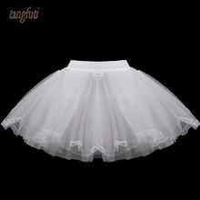 Белые короткие юбки-американки для девочек на свадьбу; трехслойная кружевная юбка-американка из тюля без костей; Простые мини-юбки для детей