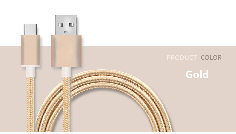 Type-c Data Line Android Type-C Charging Data Line Lexus Nylon Braided Android Mobile Phone Data Line Fast Charing