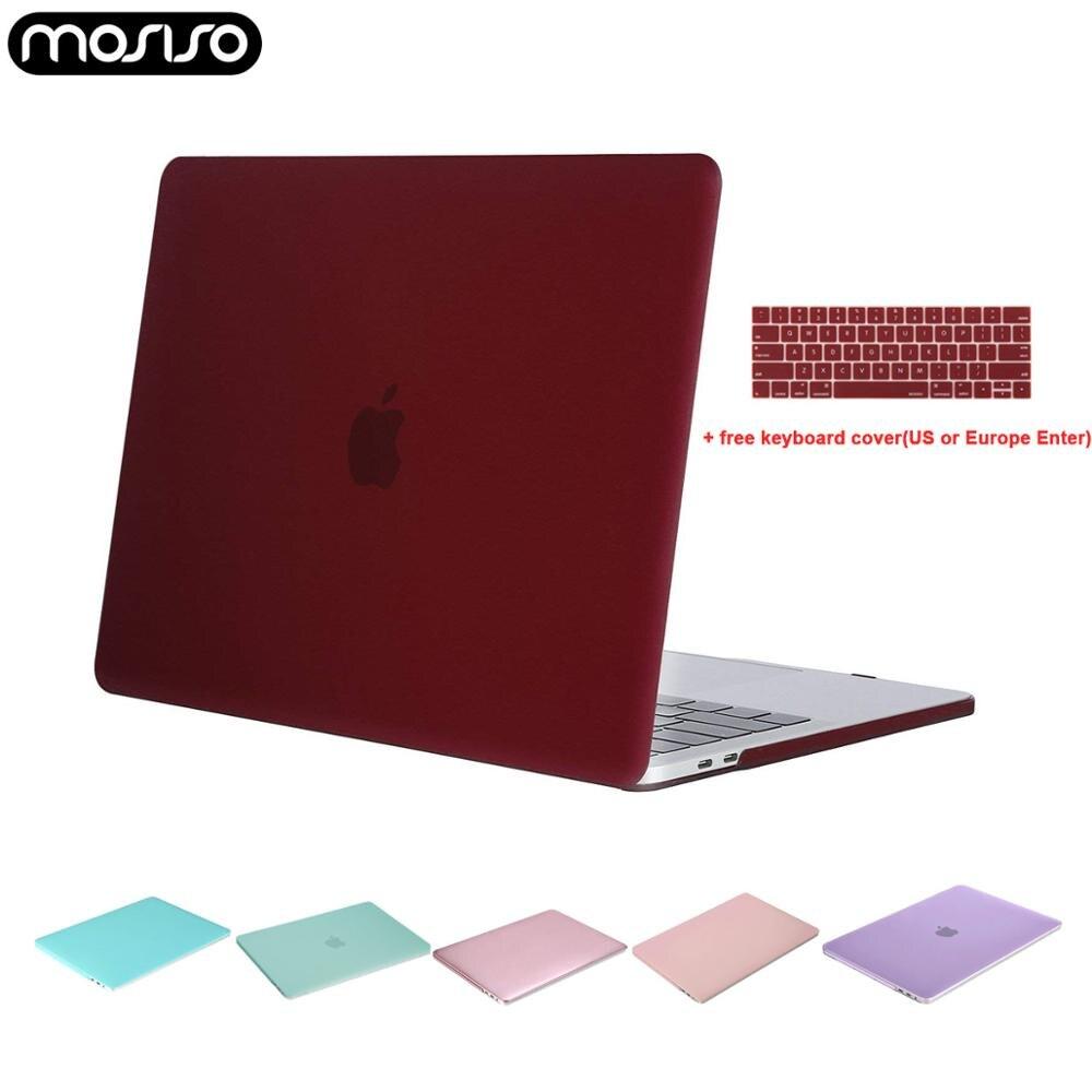 Mosiso claro portátil caso casca dura para macbook ar pro 13 polegada barra de toque 13 15 a1706 a1989 a2159 novo air13 a1932 + teclado capa