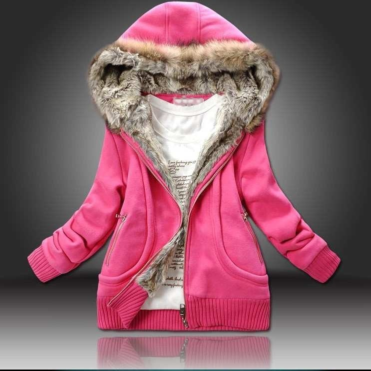 ФОТО Women Large Fur Hooded Coat Parkas Outwear Winter Thicken Jacket Sweatshirt Women Clothing Brand Style C6N184Y