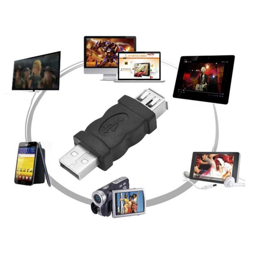 の firewire 1394 6 ピンメス、 usb 2.0 タイプ a オスアダプターアダプターカメラ携帯電話 MP3 プレーヤー pda 黒