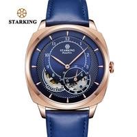 STARKING Automatic Mechanical Watches Men Dress Fashion High Quality Stainless Steel Wrist Watch Men Luxury Rose Gold Blue Watch