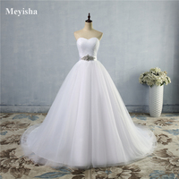 ZJ9056 S 2018 A Line Lace Sweetheart Off The Shoulder Sleeveless White Ivory Bridal Wedding Dress