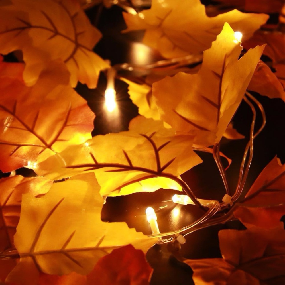 2018 Thanksgiving Decoration Lighted Fall Garland, Thanksgiving Decor Halloween String Lights 8.2 Feet 20 LED, Thanksgiving Gift