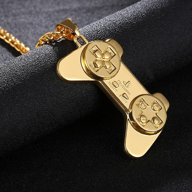 Gewissenhaft Fooderwerk Schmuck Europäischen Und Amerikanischen Mode Hip Hop Halskette Cool Game Griff Anhänger Kupfer Legierung Halskette Für Mann Frauen Schmuck & Zubehör