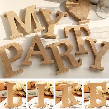 1pcs Retro Wooden letters High Quality  Alphabet Design English DIY Craft Wedding Birthday Party Home Decoration 1