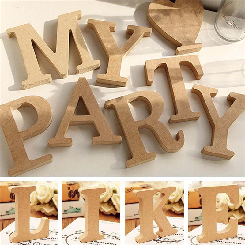 1pcs Retro Wooden Letters High Quality  Alphabet Design English DIY Craft Wedding Birthday Party Home Decoration
