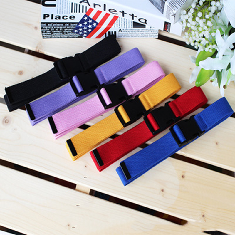 Hot Sale Adjustable All-Match   Belt   Girls Boys Unisex Korean Style Canvas   Belts   Harajuku Buckle Solid Color Long   Belts