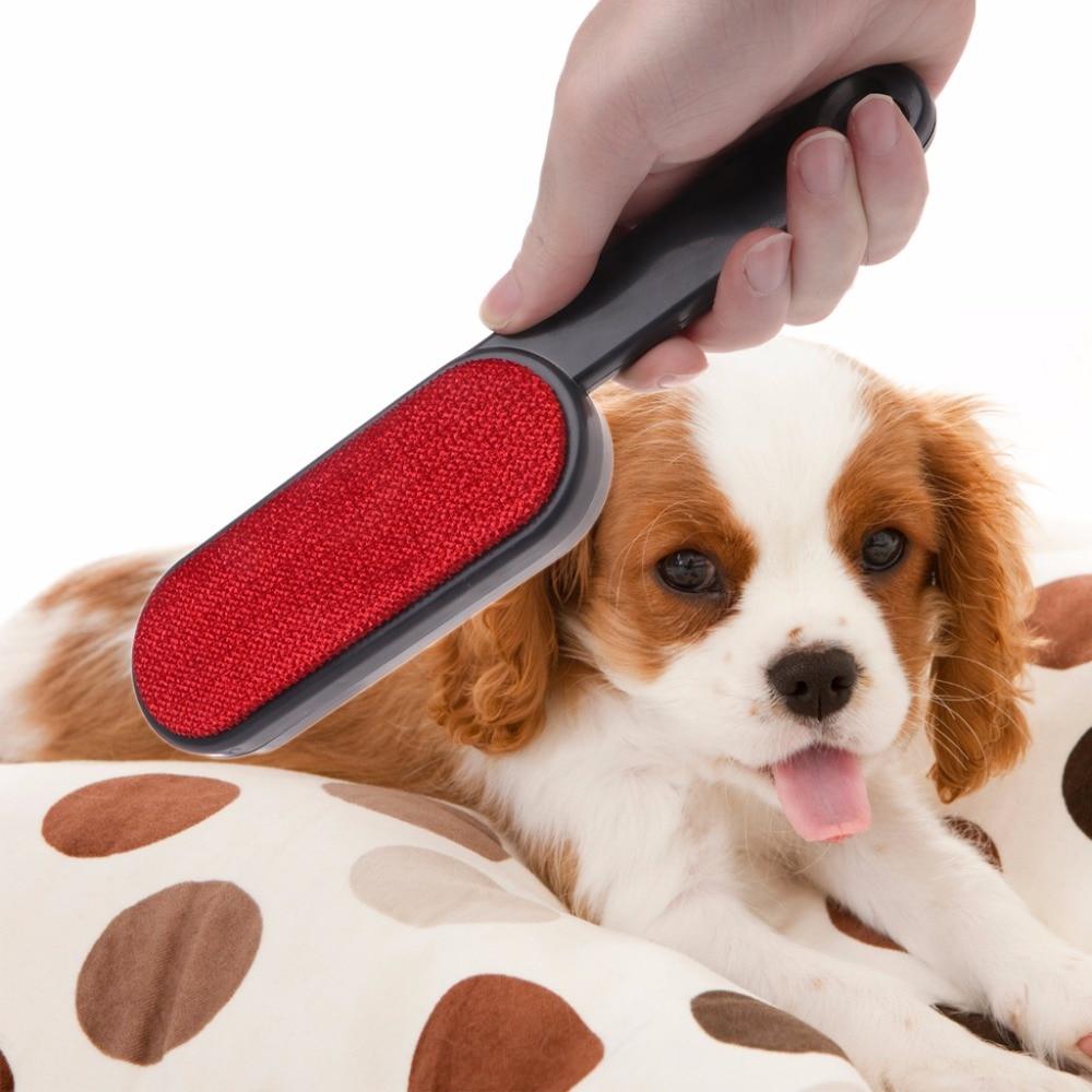 1 Pc Pet Perro Gato Removedor De Pelo Portátil De Doble Cara Cepillo De Limpieza Para Perros Gatos Ropa Sofá Polvo Quitar Mascota Suministros