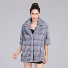 AAA  Natural Color Mink Fur Coat for Women Sapphire Fashion Mink Fur Jackets