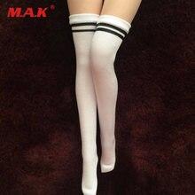 1/6 женские белые длинные чулки студенческие носки для 12 дюймов