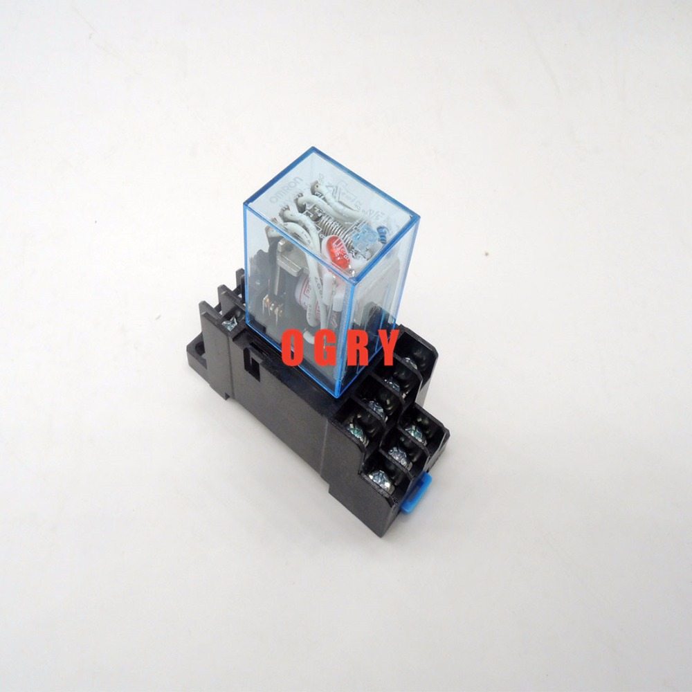 5 sets/Lot Power Relay MY4NJ 12V DC Coil Miniature Relay 4NO 4NC 14 Pins 5A 240VAC MY4N-J With PYF14A Socket Base батут nj 12 48d