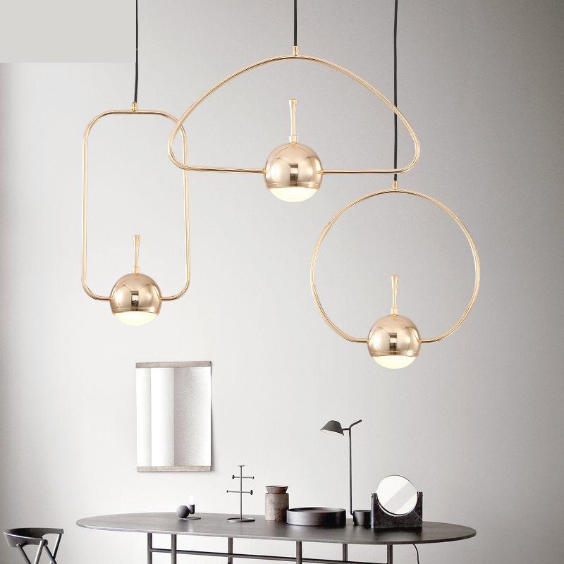 Nordic LED pendant lights ball Restaurant Small Chandelier Creative Bar Bedside Lamp Bedroom Suspension Luminaire 220V
