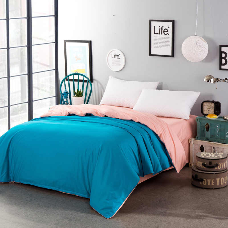 Solid color dark green jade two-sided color bedding single quilt cover bed comforter cover duvet cover 4 size home textiles soft