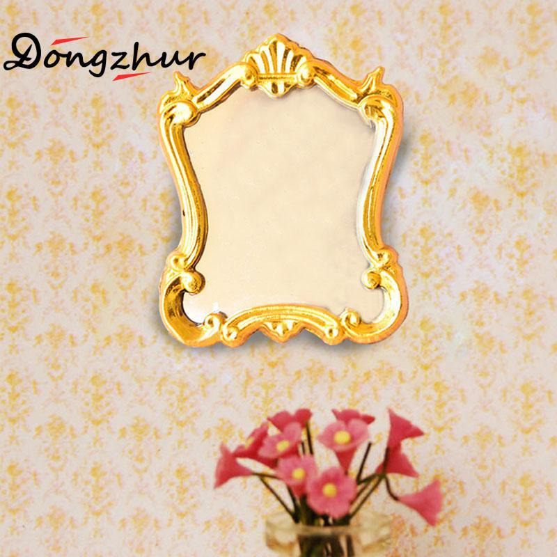 1:12 DOLLHOUSE Mini Furniture European Frame Mirror Model Vintage VERY