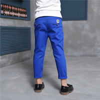 Spring Autumn Male Trousers Cotton Kids Pants Boys Trousers For Children Teenage Pants Leisure School Teens