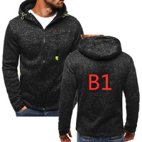 B1 Male Hoodies Print Logo Custom Hoodie Print Harajuku Hip Hop Zipper Coat Streetwear Men's Pullover Hoodies Jacket Sweatshirts