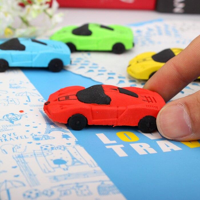1pcs/lot Send Random Children School Supply Cute Car Dismountable Erasers Set Rubber Eraser Best Gift For Children 0711